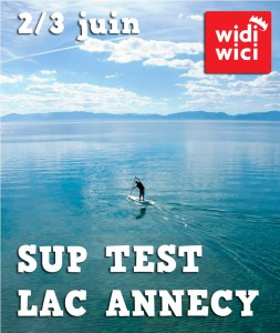 Test SUP lac annecy juin 2012